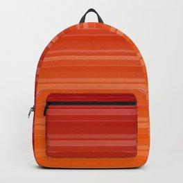 Warm gradient stripes Backpack