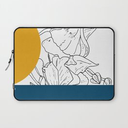 VESSEL - Floral Ink in Peacock & Mustard - Cooper and Colleen Laptop Sleeve