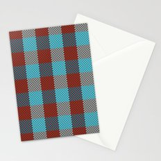 Pixel Plaid - Cranberry Bog Stationery Cards