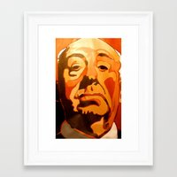 hitchcock Framed Art Prints featuring Hitchcock by Jonny Moochie