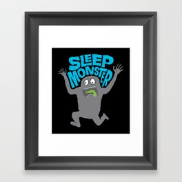 Sleep Monster Framed Art Print
