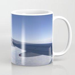 Heavenly Blue Skies Flying Coffee Mug