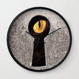 Peeping Tom... Cat Wall Clock