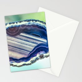 Blue purple geode Stationery Cards