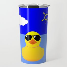 Cool Rubber Duck Yellow Travel Mug