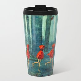 Five Little Red Riding Hoods 1 Travel Mug