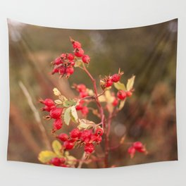Rose Hip Photography Print Wall Tapestry