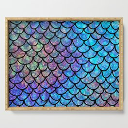 Colorful Mermaid Scales Serving Tray