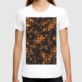 Ancient Amber Wobbly Mosaic Tiles T-shirt