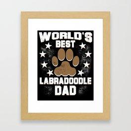 World's Best Labradoodle Dad Framed Art Print