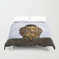 falcon Duvet Covers featuring Merlin Falcon by Photography By MsJudi