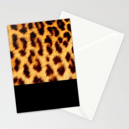 Leopard skin with black color Stationery Cards