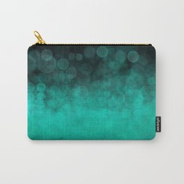 Aqua Cyan Spotted Carry-All Pouch