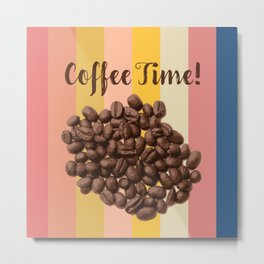 Coffe Time Vintage Retro Style, Coffee Lover Design Metal Print