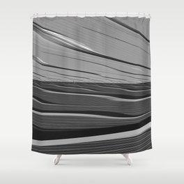 Dual Realities: Black Flood Shower Curtain