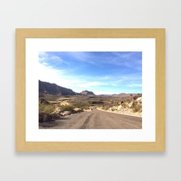 the river road Framed Art Print