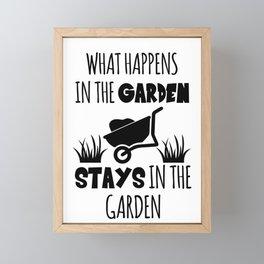 Gardener Framed Mini Art Print