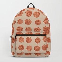 Boho chic beach seashell pattern in burnt orange Backpack