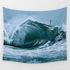 The Wedge Blue Barrel  Wall Tapestry