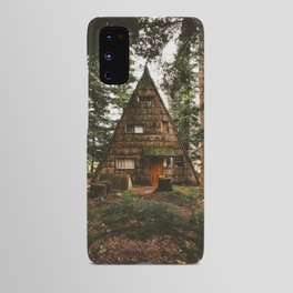 A-Frame Cabin in the Woods Android Case