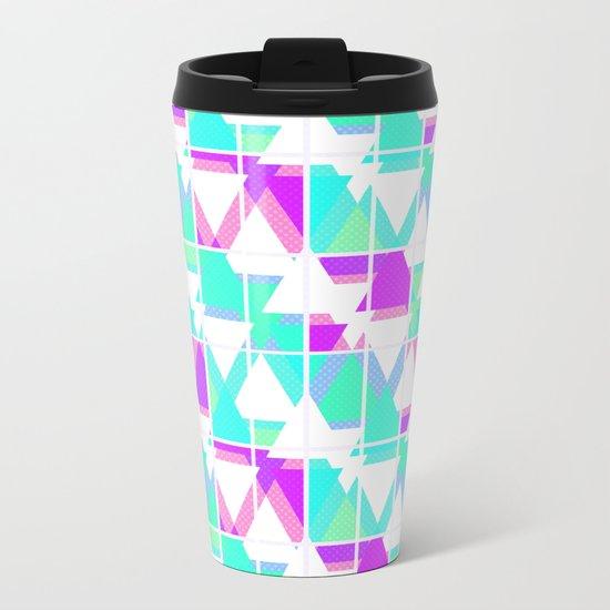 Abstract geometric pattern 4 . Metal Travel Mug