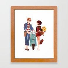 Kiki and Tombo Framed Art Print