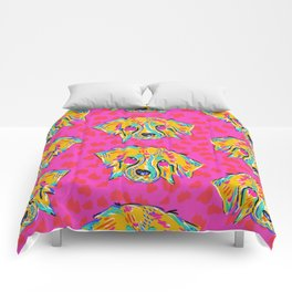 Bright Dog Pattern   Pink Comforters