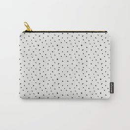 Hand painted black white watercolor polka dots brushstrokes Carry-All Pouch
