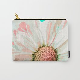 Elegant White Daisy in Watercolor Carry-All Pouch