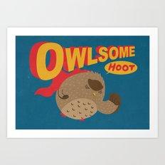Owlsome Guardian Art Print