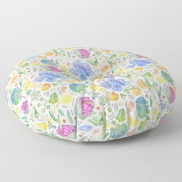 Winter Harvest Pattern Annotated Floor Pillow