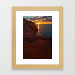 Seacow Head Sunset Framed Art Print