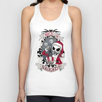 scary Tank Tops featuring Scary Santa by Dooomcat