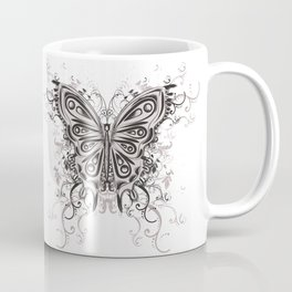 Beautiful filigree butterfly with flowers Coffee Mug