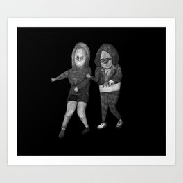 Zombies in my backyard: Ghost World Art Print