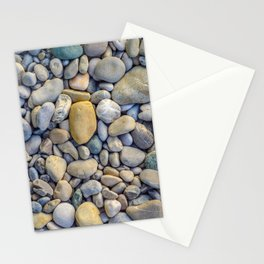 Background Of Smooth River Stones Stationery Cards