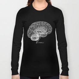 DELAUNAY BRAIN b/w Long Sleeve T-shirt