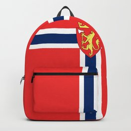 Flag of Norway Scandinavian Cross and Coat of Arms Backpack