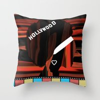 hollywood Throw Pillows featuring Hollywood by AndISky
