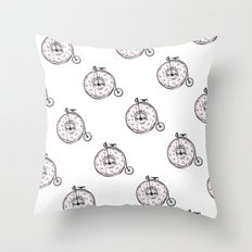 Donut Ride My Bicycle Throw Pillow