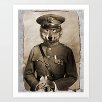 general Art Prints featuring The general by Seamless