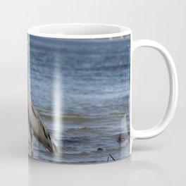 great blue heron in water in vancouver Coffee Mug