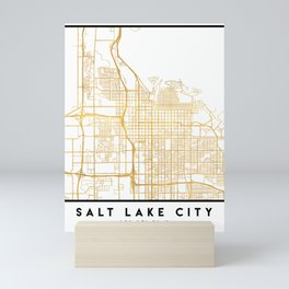 SALT LAKE CITY UTAH CITY STREET MAP ART Mini Art Print