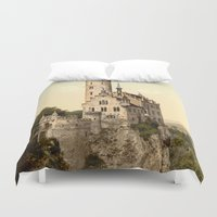 lichtenstein Duvet Covers featuring Lichtenstein Castle by BravuraMedia
