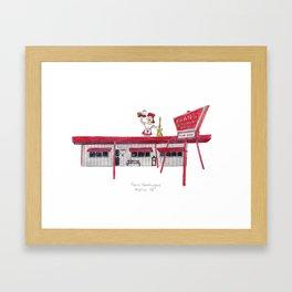 The Austin Collection: Fran's Hamburgers Framed Art Print