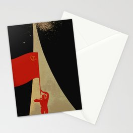 all the way up to the stars - soviet union propaganda Stationery Cards