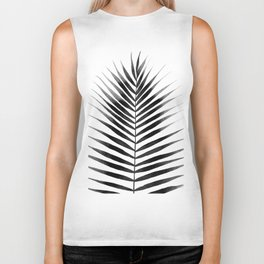 Palm Leaf Watercolor | Black and White Biker Tank