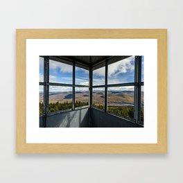 in the firetower Framed Art Print