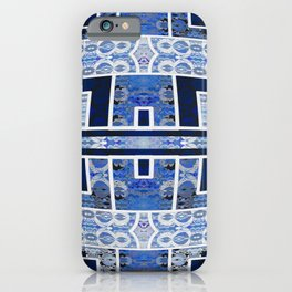 Moroccan Boho Blue Tile Boho Geometric Lace Detail iPhone Case