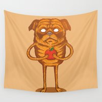 jake Wall Tapestries featuring Jake the Dog by Mikhail Desales